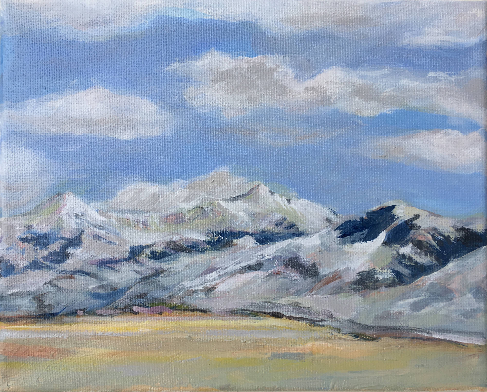 "Lima Peaks, 8"" x 10"", Acrylic on Canvas"