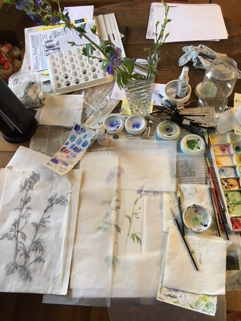 Watercolor Working Space