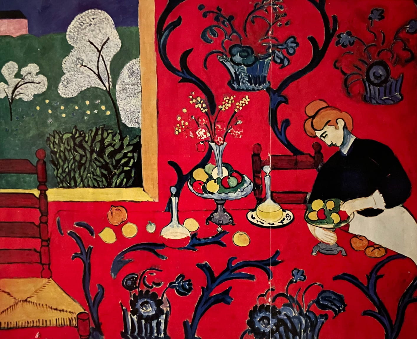 """Henri Matisse, The Desert: Harmony in Red, 1908, oil on canvas, 5'11""""x7'3"""""""